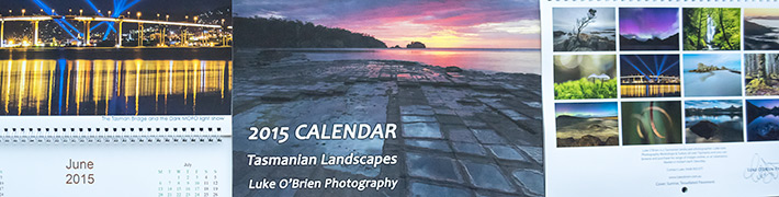 Tasmanian Landscapes 2015 Calendar Now Available!
