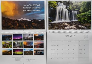 2017 calendar Tasmanian Landscapes