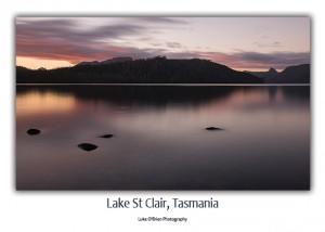 Lake St Clair postcard Tasmania