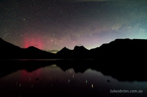 Aurora Australis at Cradle Mountain.