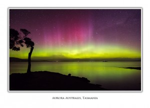 Tasmanian Greeting Cards - Aurora at Nine Pin Point