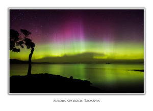Aurora at Nine Pin Point Greeting Card