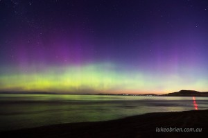 Aurora photography Tasmania