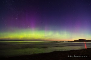 Aurora photography Southern Lights Tasmania