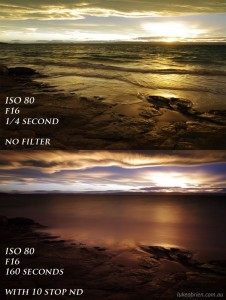 B+W 10 Stop ND Filter - With & Without Comparison