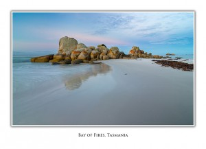 Tasmanian Greeting Cards Bay of Fires Picnic Rocks