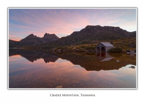 Cradle Mountain and Boatshed Greeting Card