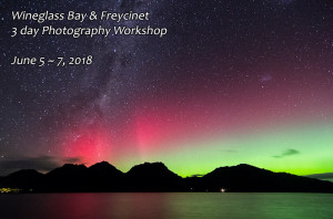 Night sky and aurora photography workshop Tasmania