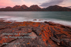 Freycinet Photography Tour Sunset Coles Bay