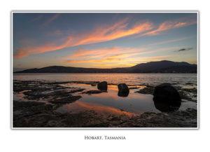 Hobart sunset from Bellerive geeting card