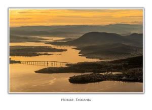 hobart aerial tasman bridge photo