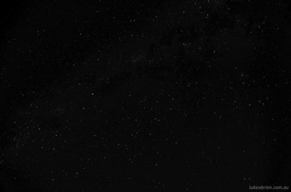 Southern Cross (bottom left) & Scorpius (top right)
