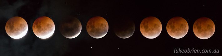 "Full lunar eclipse and ""Blood Moon"""