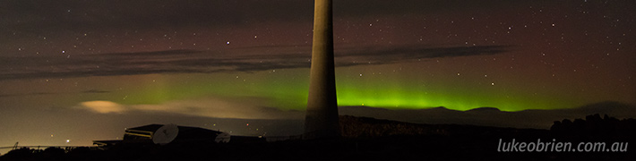 Aurora Australis Timelapse Mt Wellington Feb 23~24 2014
