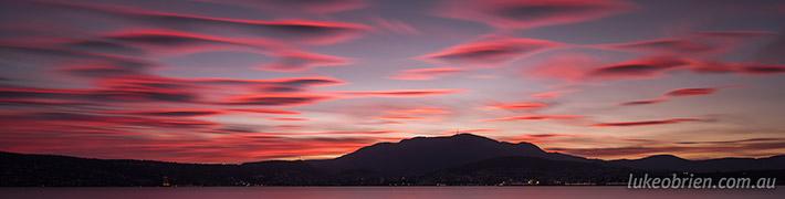 Epic Hobart sunset last night…