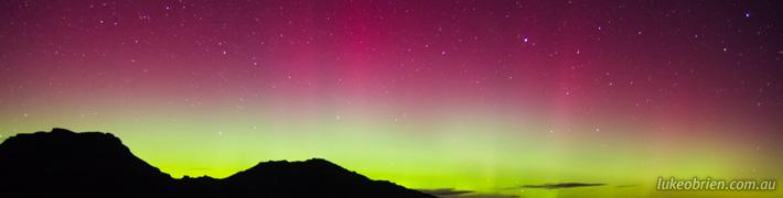 Aurora Australis at Freycinet, Tasmania