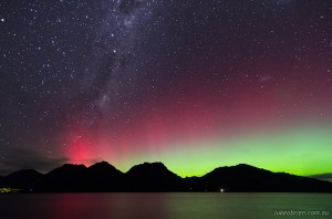 Aurora Australis, Tasmania March 17 2013