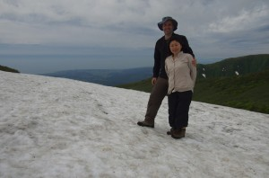 Summer snow, Mt Chokai