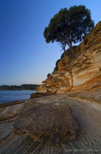 Dusk at the Painted Cliffs Tasmania, Maria Island