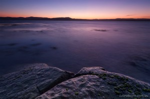 Post-sunset colours, Maria Island, Tasmania