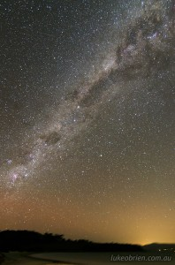 Milky Way in the southern sky, Tasmania