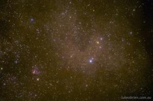 Pentax Astrotracer: Omega (M17) Nebula, Sagittarius