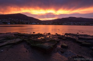 Sunset, Berriedale, Hobart