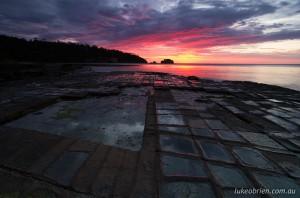 Sunrise, Tessellated Pavement Tasmania