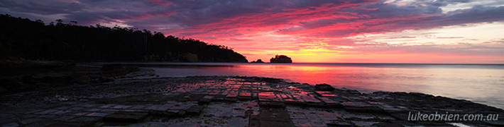 Sunrise Photos: Tessellated Pavement Tasmania