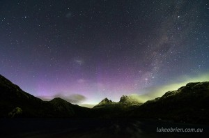Aurora photography Tasmania Cradle Mountain