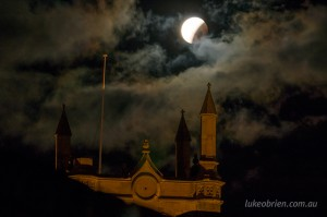 Lunar eclipse Hobart Tasmania October 8 2014