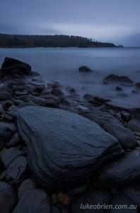 Rocky shoreline on Maria Island