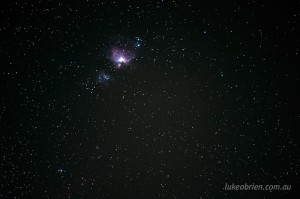 The Orion Nebula, one of the easiest objects to find and photograph