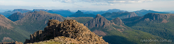 View from the Top – Mt Ossa, Tasmania