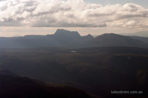 View to Cradle Mountain from Mt Ossa