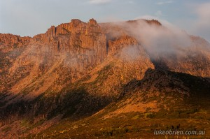 Sunrise and mist on Mt Ossa, Tasmania