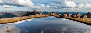 Tarn atop Mt Ossa on Tasmania's Overland Track