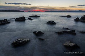 Sunrise spots Hobart: Clifton Beach