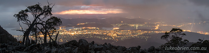 Tasmanian Landscape Photography: Sunrise Mt Wellington