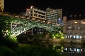 Totsuna Bridge Iizaka Onsen