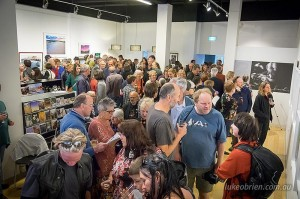 Wild Island Gallery Tasmania Opening Night Crowd