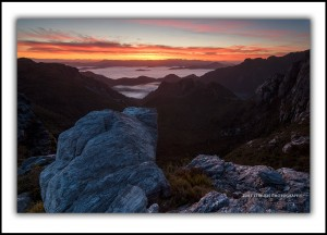 Sunrise Tasmanian Wilderness World Heritage Area