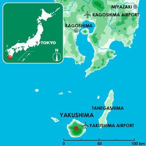 Yakushima Location Map