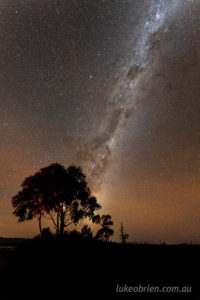 Airglow over Tasmania's Tarkine region