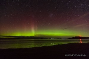 April 2014 Aurora Australis Tasmania Seven Mile Beach