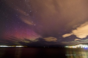"Aurora Australis ""Southern Lights"" Hobart Feb 20 2014"