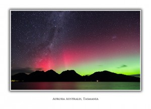 Aurora Australis Coles Bay Greeting Card