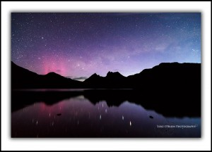 Aurora australis at Cradle Mountain Tasmania