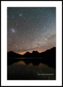Aurora and Southern Sky, Cradle Mountain
