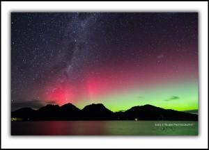 Aurora Australis at Coles Bay, Tasmania